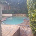 tiled pool area