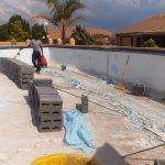 pool building wall
