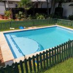 pool sky blue fiber