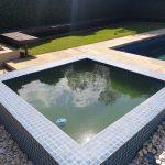 tiling around swimming pool